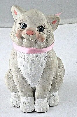Figurine Cat Hand Crafted CA Cast Art industries Mexico Kristin 1991 VTG Kitty