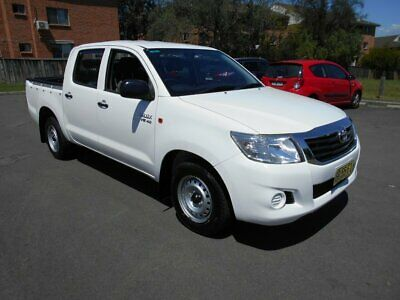 2012 Toyota Hilux GGN15R MY12 SR White Automatic 5sp A Dual Cab Pick-up