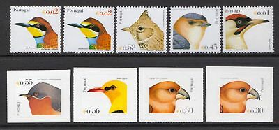 Portugal 2002 - 2004 Birds - MNH selection of gummed & self-adhesives - (210)