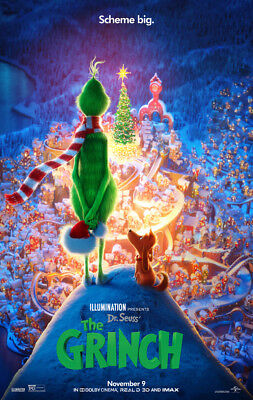 THE GRINCH MOVIE POSTER DS ORIGINAL FINAL 27x40 DR. SEUSS BENEDICT CUMBERBATCH