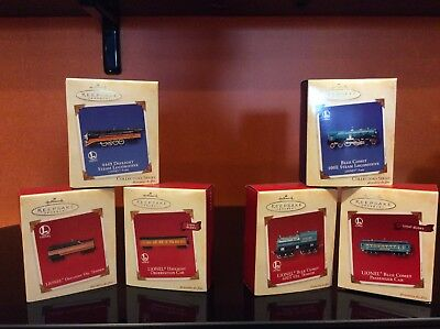 Hallmark  Lionel train ornaments lot