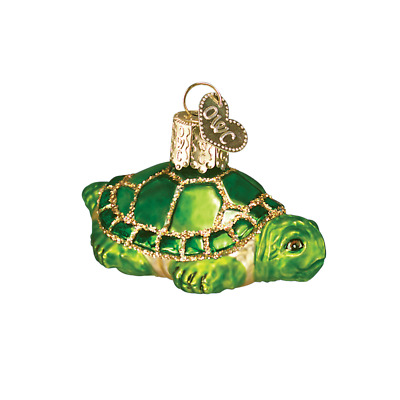 """Small Turtle"" (12091)X Old World Christmas Glass Ornament w/ OWC Box"