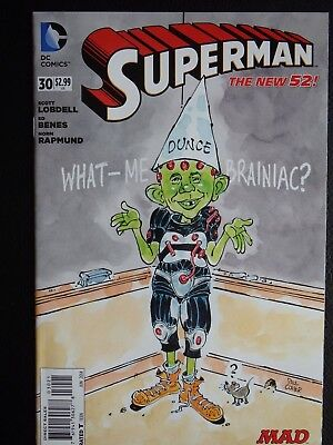 MAD Magazine DC variant cover Superman 2014 - two comics