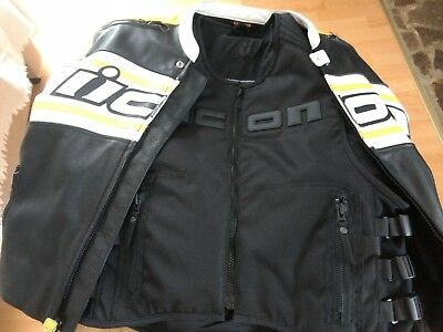 Leather ICON Jacket and ICON Brigand Brand NEW Vest Mesh