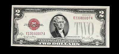 1928 G $2 United States Note Us Paper Money Gem Bu Unc Ms+++ Note #0007A
