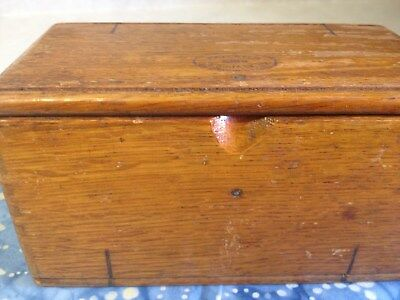 Vintage Singer 1889 Wooden Folding Puzzle Box Sewing Machine Accessories