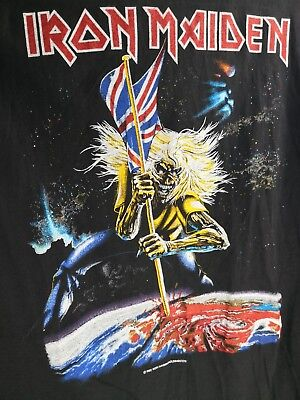 IRON MAIDEN 1982 UNWORN Vintage T-Shirt The Beast on the Road  / No Tour Shirt