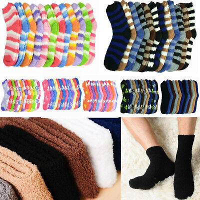 3-10 Pairs For Mens Womens Soft Cozy Fuzzy Socks Winter Home Warm Slipper Lot