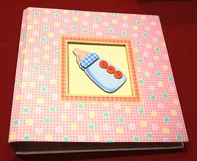 BabyGirl- Photo Album - Holds 200 15x10cms Photos 2 per page - Book 22 x 22cms