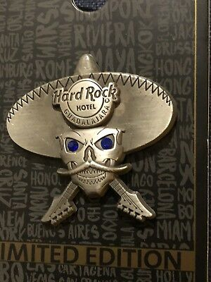 New 2018 Hard Rock Hotel Guadalajara 3D Silver Skull Pin