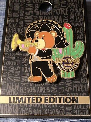 New 2018 Hard Rock Hotel Guadalajara Teddy Bear Mariachi Pin