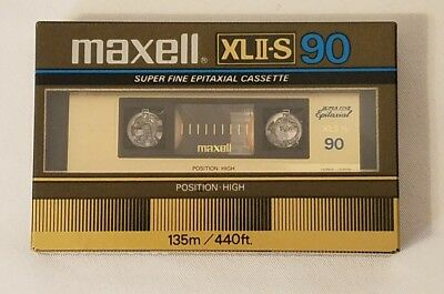 New Maxell XLII-S 90 Tape Made in Japan Sealed 80's