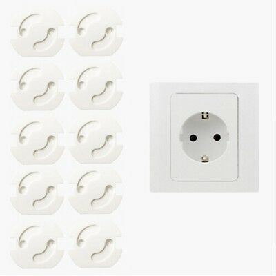 10x Pro Kids Power Socket Cover Baby Protector Electrical Outlet Mains Plug LV