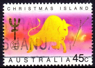 Christmas Island 1997 Year Of The Ox Used Sheet Format