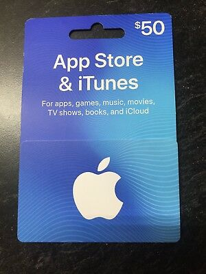 Apple iTunes Gift Card NO VALUE $50 NEW! W/ CARD HOLDER! FREE SHIP! 24HR SALE!