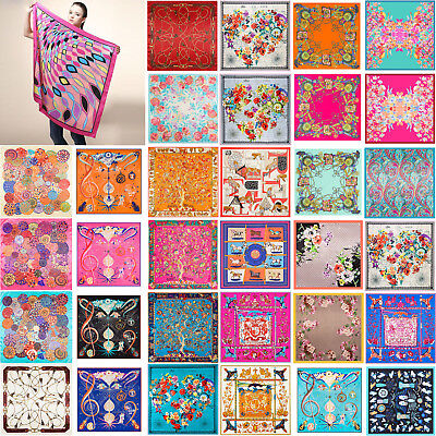 Shawl Silk-like Satin Womens Wrap Square Scarves For Gift Scarf Kerchief