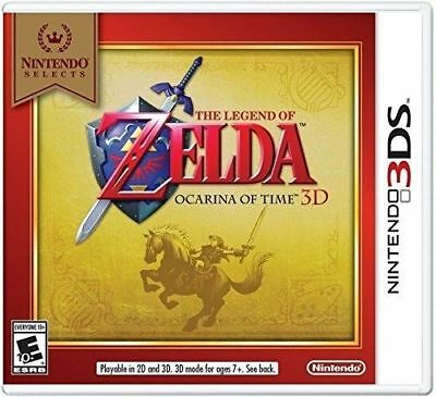 The Legend of Zelda: Ocarina of Time 3D - Nintendo Selects (Nintendo 3DS, USA)