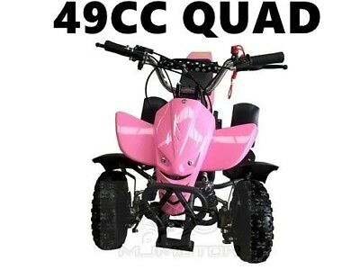 49Cc Mini Quad Bike Atv Buggy Kids 4 Wheeler Pocket Pit Dirt Bike  Mjmotor Pink