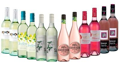 Sweet Summer Favourites Mix Wine Pack - 12 x 750ml Free and Fast Delivery