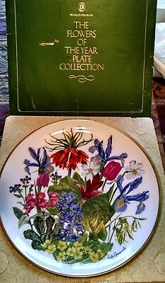 Franklin Mint Flowers Of The Year Porcelain Plate By Wedgwood - April
