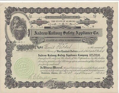 Stk-Andrew Railway Safety Appliance Co. Montgomery AL 1915 See all images