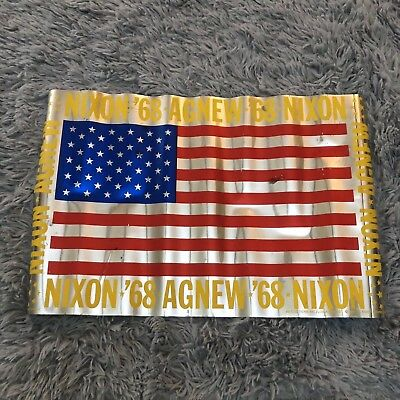 Nixon '68 | Agnew | Vintage American Flag Campaign Poster | Free Shipping