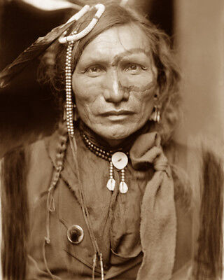 Iron White Man 1898 Sioux Native American Sepia Photo