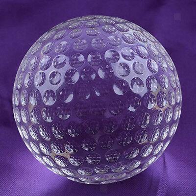80Mm Clear Crystal Golf Ball (No Stand) Paperweight Christmas Gift For Kids