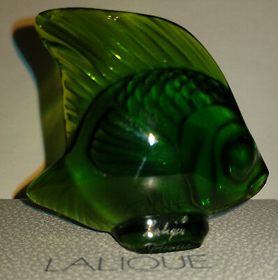 Lalique Crystal - Fish Figurine : Lime Green  3000900