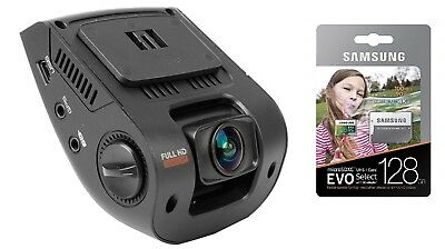 BUNDLE - Rexing V1 Car Dash Cam 2.4 LCD FHD 1080p & Samsung 128GB MicroSD / NEW