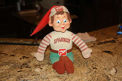 Vintage Sparky 7 Up Soda Drink Doll In Fair To Good Condition