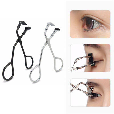 Mini Eyelash Curler Curling Clip Scissor Tongs False Eye Lashes Makeup Tools
