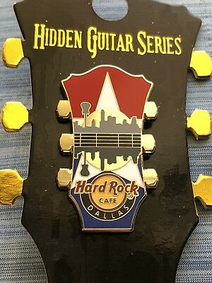 New 2018 Hard Rock Cafe Dallas Hidden Guitar Series Pin