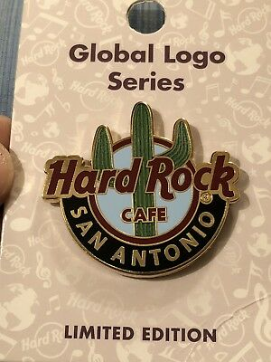 2018 Hard Rock Cafe San Antonio Global Logo Series Pin.