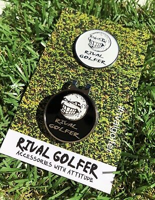 'The Shady Pair' - 2 ball markers + 1 hat clip