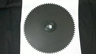 """#35 Roller Chain Sprocket 80T 1"""" Keyed Shaft Bore .375"""" Pitch Solid B 9 1/4"""""""