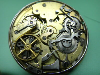 Minute repeating chronograph pocket watch movement only, over 20-size 48mm as-is