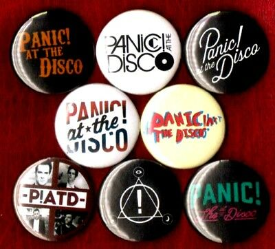"""Panic at the Disco 8 NEW 1"""" buttons pins badges PATD STOCKING STUFFER"""