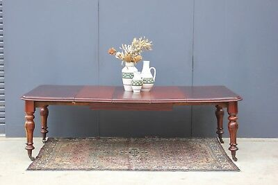 Large Victorian 10 seater dining table.