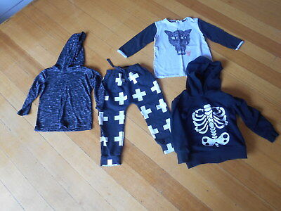 Mixed size size 2 - 3 boys clothes - hoodies pants and top  Mixed Bulk