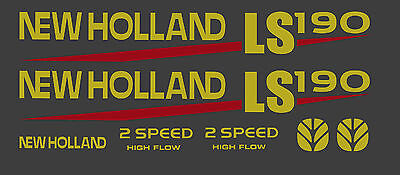 New Holland LS190 Skid Steer DECAL KIT for your loader, LS 190  FREE SHIPPING