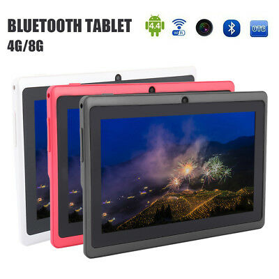 """7"""" Inch Android Tablet 4/8GB Quad Core 4.4 Dual Camera Bluetooth WIFI Tablet US"""