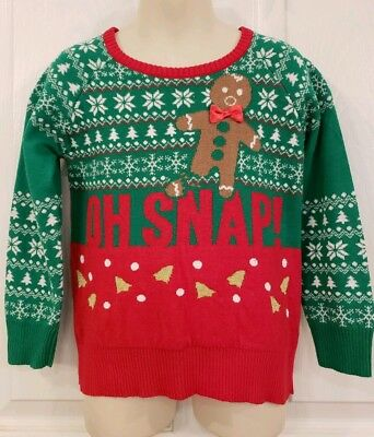 Toddler Boy's Gingerbread Holiday Sweater Sz 5