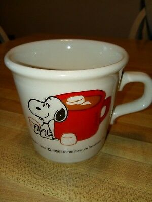 Vintage 1958 Snoopy Coffee Hot Chocolate Mug
