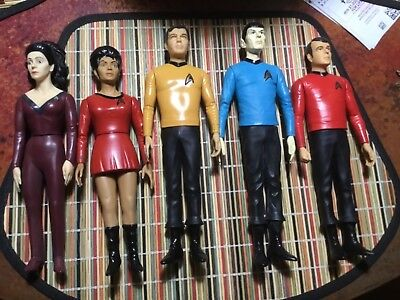 (Lot of 5) 1991 Star Trek Figures by Hamilton Gifts