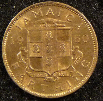 1950 Jamaica Farthing  Coin     F277