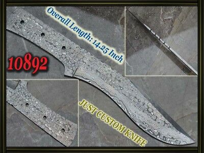 "14.25""Custom made Rare Damascus hunting blank blade knife making suppliers 10892"