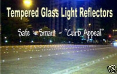 """12x Rare """"Your Color Choice"""" Glass Light Reflectors - 6 Colors - Best In Town!"""