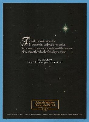 1974 Johnnie Walker Black Label Scotch To Those Who Said You'd Not Go Far Ad
