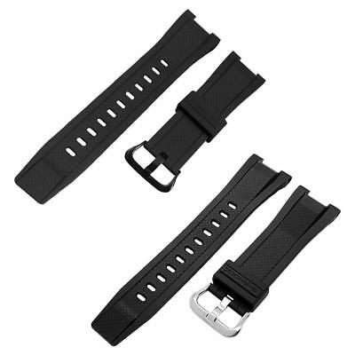 Black Resin Watch Strap For CASIO GST-210 GST-S100 GST-S110 Replacement Band UK